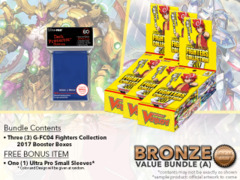 Cardfight Vanguard G-FC04 Bundle (A) Bronze - Get x3 Fighters Collection 2017 Booster Box + FREE Bonus Items * PRE-ORDER Jun.9