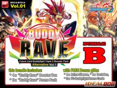 FC-Buddyfight D-BT01A Bundle (B) - Get x4 Buddy Rave Alternate Booster Box + FREE Bonus Items * PRE-ORDER Ships Jun.24