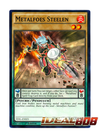 Metalfoes Steelen - TDIL-EN021 - Common - 1st Edition