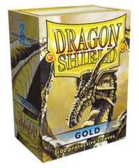 Dragon Shield Standard-size (100ct) Sleeves - Gold