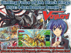 Cardfight Vanguard BT12 Bundle (B) - Get x4 Binding Force of the Black Rings Booster Box + CfV Sleeves & Garmore Playmat