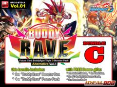 FC-Buddyfight D-BT01A Bundle (C) - Get x8 Buddy Rave Alternate Booster Box + FREE Bonus Items * PRE-ORDER Ships Jun.24
