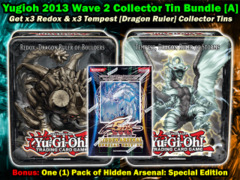 Yugioh 2013 CT10 Wave 2 Collector's Tin Bundle (A) - (3) Redox Ruler & (3) Tempest Ruler +Bonus on Ideal808