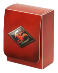 Pokemon Black & White Compact Deck Box - Smoke Red Charizard Emblem on Ideal808