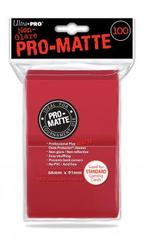 Ultra Pro 100ct Pro-Matte Large Sleeves - Red (#84516)