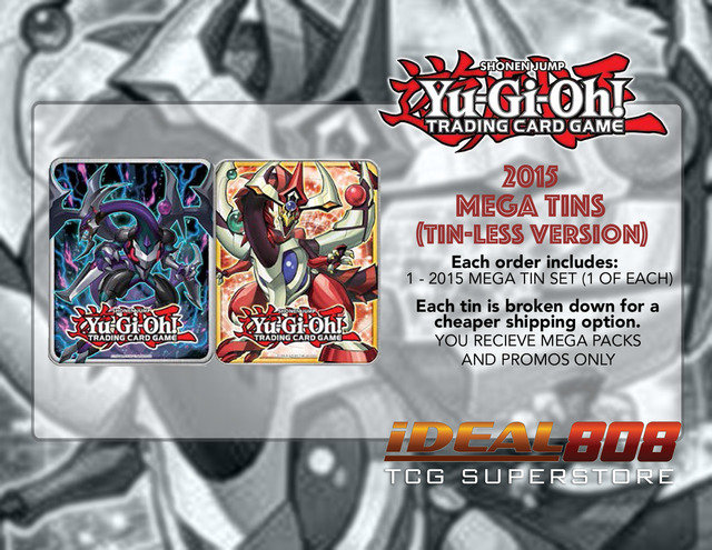 Yugioh 2015 Mega-Tin Set - Odd-Eyes Pendulum Dragon & Dark Rebellion Xyz Dragon (Tin-Less Version) ** In-Stock & Ready to Ship!!