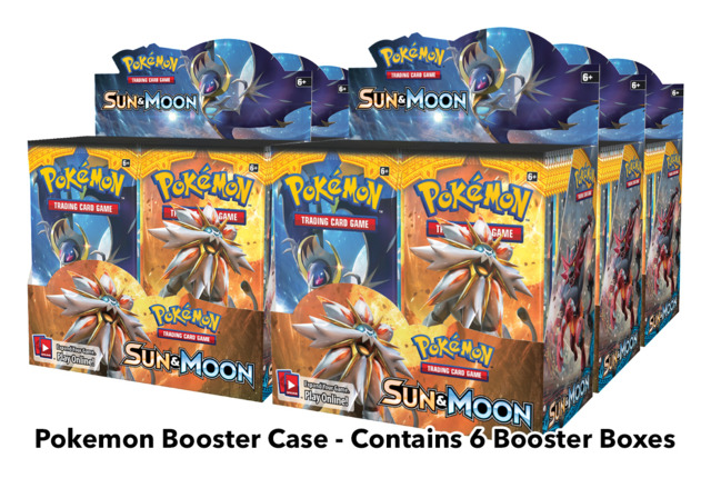 SM Sun & Moon (SM01) Pokemon Booster  Case (6 Boxes) * PRE-ORDER Ships Feb.3