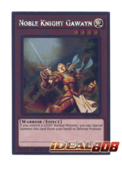 Noble Knight Gawayn - NKRT-EN004 - Platinum Rare - Limited Edition