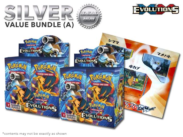 Pokemon XY12 Bundle (A) Silver - Get x2 XY Evolutions Booster Box + FREE Bonus Items