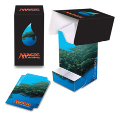 Magic the Gathering MANA 5 Ultra Pro Deck Box with Tray - Island (#86532)