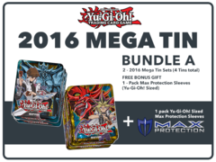 Yugioh 2016 Mega-Tin Bundle (A) - Get x4 2016 Mega-Tins (2 of Each) + Free Bonus Item (See Description) * Pre-Order Ships Sep.2
