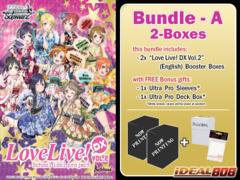 Weiss Schwarz LLDX2 Bundle (A) - Get x2 Love Live! DX Vol.2 Booster Boxes + FREE Bonus Items
