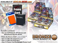FC-Buddyfight X-BT03A Bundle (A) Bronze - Get x2 LVL UP! Heroes and Adventurers Booster Box + FREE Bonus Items * Ships Sep.22
