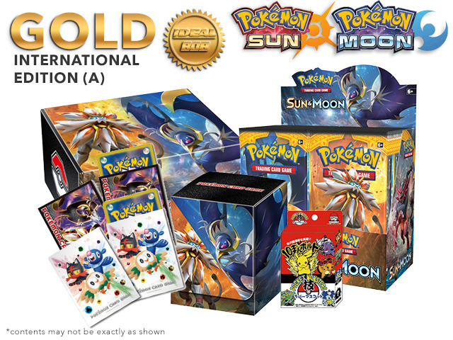 Pokemon SM01 Bundle (A) International Edition - Get x1 SM Sun & Moon Booster Box, & Card Accessories