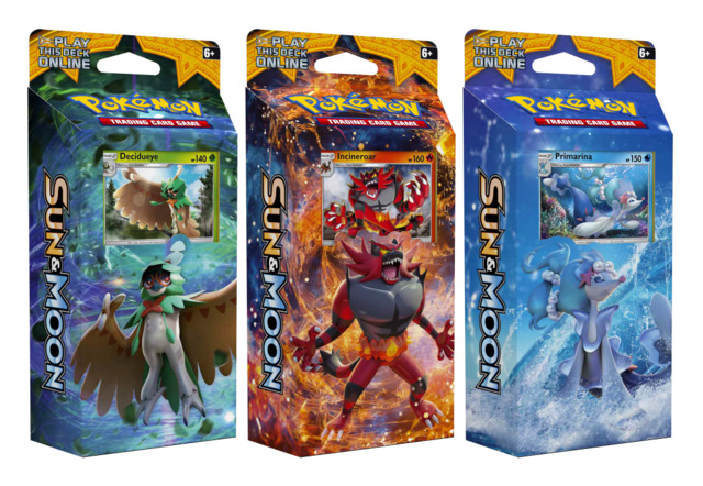 SM Sun & Moon (SM01) Pokemon Theme Deck Set - Decidueye, Incineroar, & Primarina [All 3 Decks]