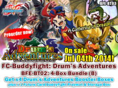 FC-Buddyfight BT03 Bundle (B) - Get x4 Drum's Adventure Booster Box + FREE Bonus (Playmat & Storage Box) on Ideal808