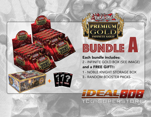 Yugioh PGD3 Bundle (A) - Get x2 Premium Gold: Infinite Gold Display Boxes plus Free Gifts ** Pre-Order Ships 3/18/16