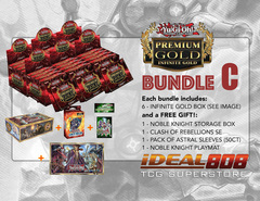 Yugioh PGD3 Bundle (C) - Get x6 Premium Gold: Infinite Gold Display Boxes plus Free Gifts ** Pre-Order Ships 3/18/16