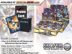 FC-Buddyfight X-BT03A Bundle (B) Silver - Get x4 LVL UP! Heroes and Adventurers Booster Box + FREE Bonus Items *  Ships Sep.22