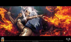 Nested Egg Gaming Printed Playmat - Rage Flame Princess on Ideal808