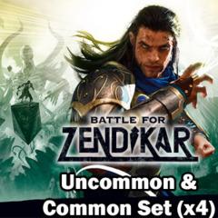 Battle for Zendikar (BFZ) Complete Set of Commons/Uncommons x4