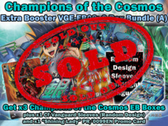 Cardfight Vanguard EB08 Bundle (A) - Get x3 Champions of the Cosmos Extra Booster Box + CfV Sleeves & More on Ideal808