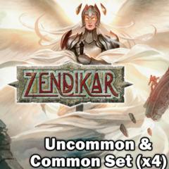 Magic Zendikar (ZEN) Complete Set Commons/Uncommons x4