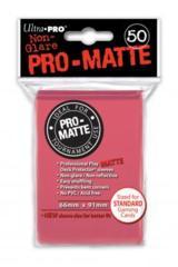 Ultra Pro Matte Non-Glare Large Sleeves 50ct. - Fuchsia (#84506)