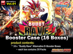 BFE-D-BT01A Buddy Rave (English) Future Card Buddyfight Alternate Booster Case (16 Boxes) * PRE-ORDER Ships Jun.24