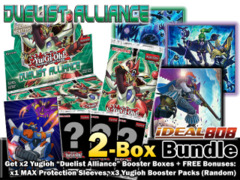 Yugioh DUEA Bundle (A) - Get x2 Duelist Alliance Booster Boxes + FREE Bonus (Sleeve & Booster Packs) * Ships August 15, 2014 on Ideal808