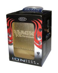 MAX Exclusive ION Gold Deck Box - Magic the Gathering Logo - Matted