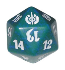 MTG Spindown 20 Life Counter - Mirrodin Besieged (Green)
