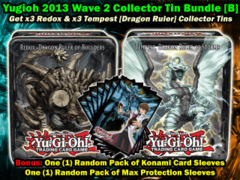 Yugioh 2013 CT10 Wave 2 Collector's Tin Bundle (B) - (3) Redox Ruler & (3) Tempest Ruler +Bonus on Ideal808
