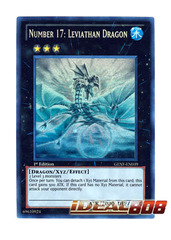 Number 17: Leviathan Dragon - GENF-EN039 - Ghost Rare - 1st Edition on Ideal808