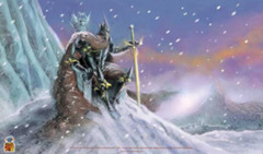 Nested Egg Gaming Printed Playmat - Dark Lord of the Frozen Isles on Ideal808