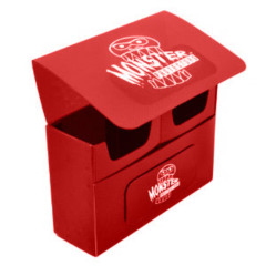 Monster Protectors Double Deck Box - Red on Ideal808