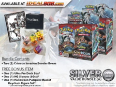 Pokemon SM04 Bundle (A) Silver - Get x2 Crimson Invasion Booster Box + FREE Bonus * PRE-ORDER Ships Nov.03