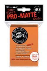 Ultra Pro Matte Non-Glare Small Sleeves 60ct - Orange (#84266)
