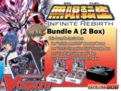 Cardfight Vanguard BT15 Bundle (A) - Get x2 Infinite Rebirth Booster Box + FREE Bonus (Storage Box & Packs) on Ideal808