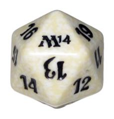 MTG Spindown 20 Life Counter - M14 Magic 2014 (White)