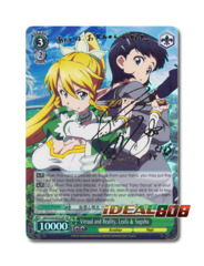 Virtual and Reality, Leafa & Suguha [SAO/S26-E022SP SP (SIGNED FOIL)] English