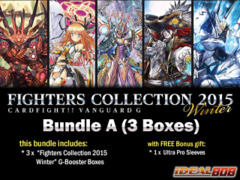 Cardfight Vanguard G-FC02 Bundle (A) - Get x3 Fighters Collection 2015 Winter Booster Box + FREE Bonus Item ** Ships 01/08