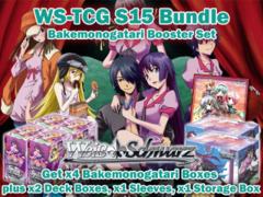 Weiss Schwarz S15 Pro-Bundle (B) - Get x4 Bakemonogatari Booster Boxes plus x2 Deck Box, x1 Storage Box & x1 Sleeves on Ideal808