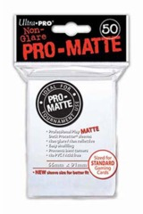Ultra Pro Matte Non-Glare Large Sleeves 50ct. - White (#82651)