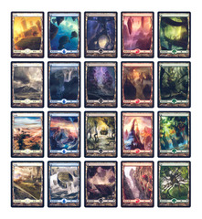 Zendikar Full Art 20-Card Basic Land Set