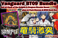 Cardfight Vanguard BT09 Bundle: Get x2 Clash of Knights & Dragons Booster Boxes plus x1 Deck Box x1 Dark Lord Abyss Sleeve * PRE on Ideal808