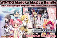 Weiss Schwarz Bundle - Get x4 Madoka Magica Booster Boxes plus x2 Shakuga no Shana V2 Sleeve & Promo Playmat on Ideal808