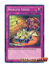 Reckless Greed - LCYW-EN285 - Super Rare - 1st Edition