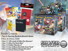 Pokemon SM03 Bundle (A) Silver - Get x2 Burning Shadows Booster Box + FREE Bonus * PRE-ORDER Ships AUG.4