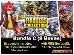Cardfight Vanguard G-FC03 Bundle (C) - Get x8 Fighters Collection 2016 (English) G Booster Boxes + FREE Bonus * PRE Ships May.20